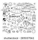 summer holidays. poster on... | Shutterstock .eps vector #285037061