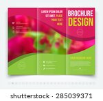 vector modern tri fold brochure ... | Shutterstock .eps vector #285039371