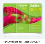 vector modern tri fold brochure ... | Shutterstock .eps vector #285039374