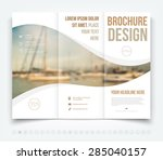 vector modern tri fold brochure ... | Shutterstock .eps vector #285040157