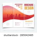 vector modern tri fold brochure ... | Shutterstock .eps vector #285042485