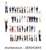 business picture achievement... | Shutterstock . vector #285042845