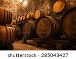 Cellar With Barrels For Storag...