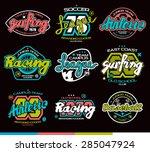 set of sport badges  surfing ...   Shutterstock .eps vector #285047924