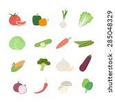 healthy vegetable set  vector... | Shutterstock .eps vector #285048329