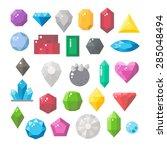 flat design of gemstones set... | Shutterstock .eps vector #285048494