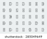 smart phone functions and apps... | Shutterstock .eps vector #285049649