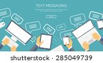 messaging and spamming.... | Shutterstock .eps vector #285049739