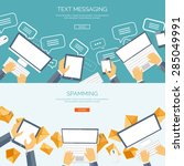 communication chatting.flat... | Shutterstock .eps vector #285049991