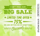 "vector vintage green ""big sale"" ... 