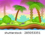 background for the game. jungle | Shutterstock .eps vector #285053351