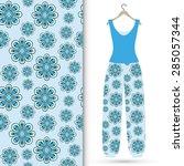 vector fashion illustration ...   Shutterstock .eps vector #285057344