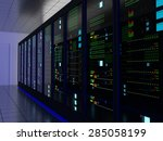 server room  colocation  or... | Shutterstock . vector #285058199