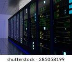 server room  colocation  or... | Shutterstock . vector #285058199