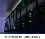 server room  colocation  or... | Shutterstock . vector #285058211