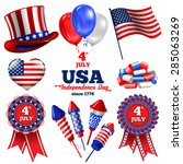 4th july   independence day of... | Shutterstock .eps vector #285063269