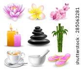vector set of beautiful icons... | Shutterstock .eps vector #285063281
