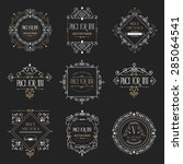 golden luxury vector design... | Shutterstock .eps vector #285064541