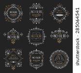 golden luxury vector design... | Shutterstock .eps vector #285064541
