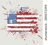 july fourth. grunge background... | Shutterstock .eps vector #285072395