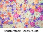 Art Photo Of Wall Of Flowers....