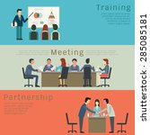 set of business concept ... | Shutterstock .eps vector #285085181