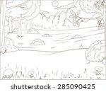 Forest Cartoon Coloring Book...