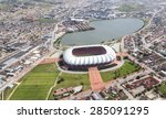 aerial view of the soccer... | Shutterstock . vector #285091295