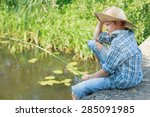 portrait of looking down on... | Shutterstock . vector #285091985