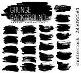 set of black ink vector stains | Shutterstock .eps vector #285092561