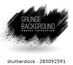 set of black ink vector stains | Shutterstock .eps vector #285092591