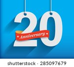 20 anniversary numbers with... | Shutterstock .eps vector #285097679