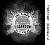 set of barbecue bbq logo  stamp ... | Shutterstock .eps vector #285100811