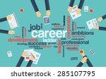 career development or career... | Shutterstock .eps vector #285107795