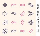 arrows web icons set | Shutterstock .eps vector #285116831