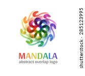 mandala sign logo  transparent... | Shutterstock .eps vector #285123995