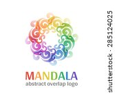 mandala sign logo  transparent... | Shutterstock .eps vector #285124025