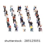 standing together office... | Shutterstock . vector #285125051