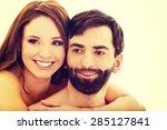 beautiful passionate shirtless...   Shutterstock . vector #285127841