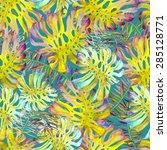 beautiful watercolor seamless... | Shutterstock . vector #285128771
