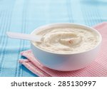 bowl of baby food  healthy... | Shutterstock . vector #285130997
