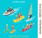 water activity sport fun... | Shutterstock .eps vector #285131114