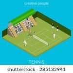 Tennis Game Match Concept....