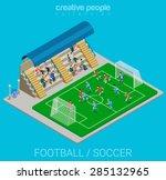 football   soccer stadium... | Shutterstock .eps vector #285132965