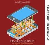 mobile shopping e commerce... | Shutterstock .eps vector #285133451