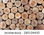 Pile Of Wood Logs Storage For...
