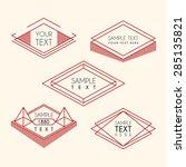 set of line art geometric... | Shutterstock .eps vector #285135821