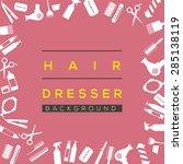 Hair Dresser Background Vector...