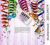 vector birthday card with... | Shutterstock .eps vector #285139079