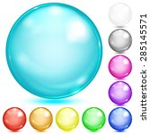 set of opaque spheres of... | Shutterstock . vector #285145571